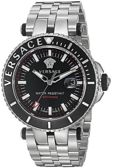 Versus Versace Reloj Analogico para Hombre de Cuarzo con Correa en Acero Inoxidable VAK030016: Amazon.es: Relojes
