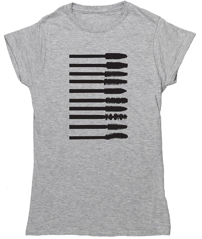HippoWarehouse CEPILLOS APLICADORES MÁSCARA PESTAÑAS camiseta manga corta ajustada para mujer: Amazon.es: Ropa y accesorios