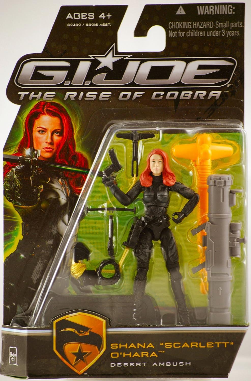 Hasbro Toys 653569403104 CHAR-GIJO-MOVI-ACTF-SCARLETT/_OHARA/_DESER Joe The Rise of Cobra 3 3//4 Action Figure Shana Scarlett O Hara Desert Ambush G.I