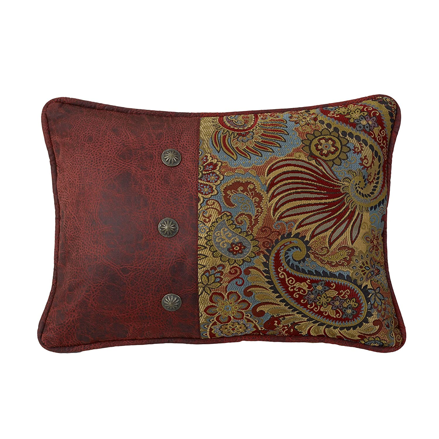 HiEnd Accents San Angelo Western Pillow, Paisley WS4287P4