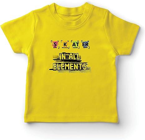 lepni.me Camiseta para Niño/Niña Patinador en Todos los Elementos Química Periódica de Mesa Deporte: Amazon.es: Ropa y accesorios