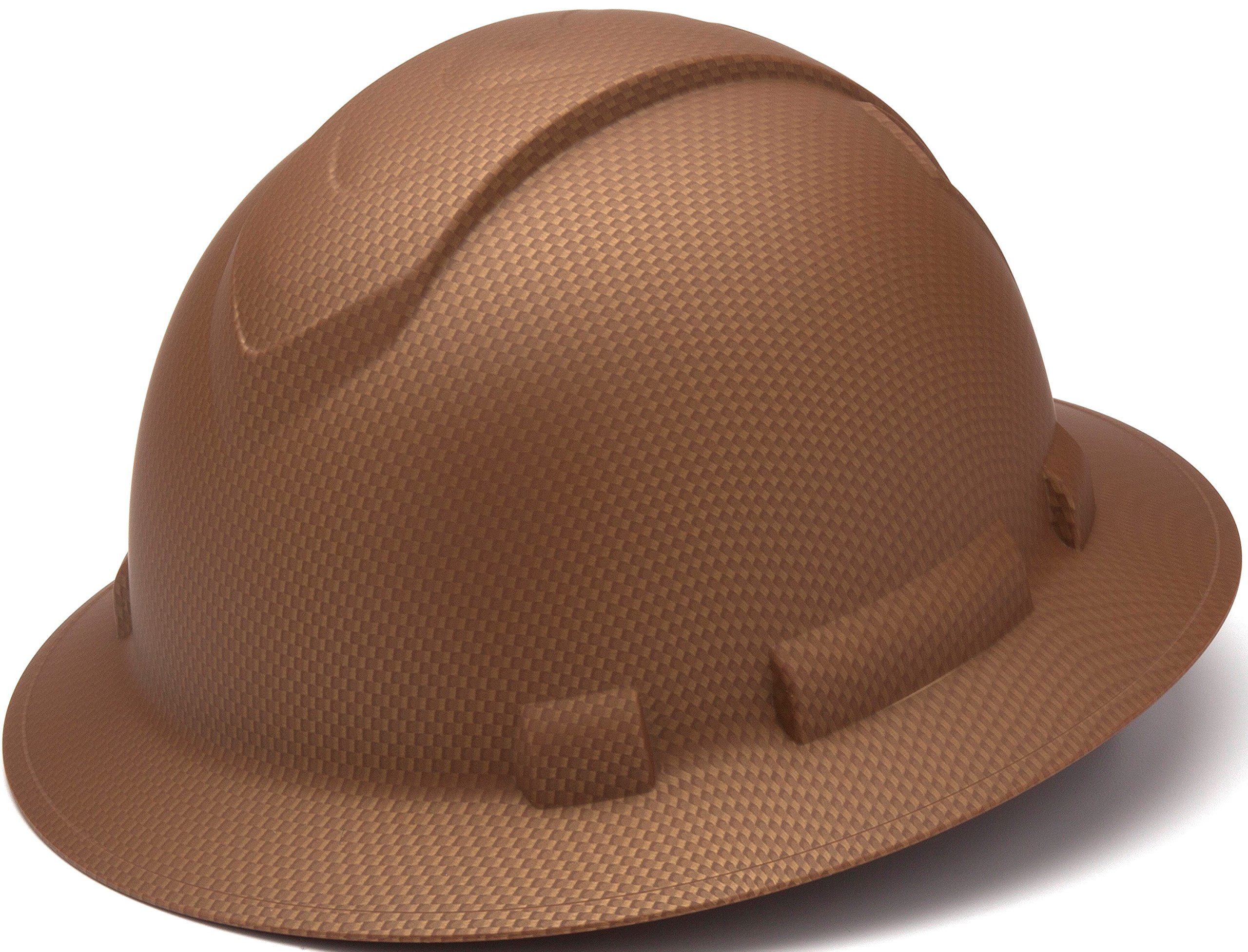 Pyramex Safety PYRAMEX - HP54118 - Copper - Full Brim Ridgeline Full Brim Graphite Pattern Hard Hat, Copper Graphite Pattern