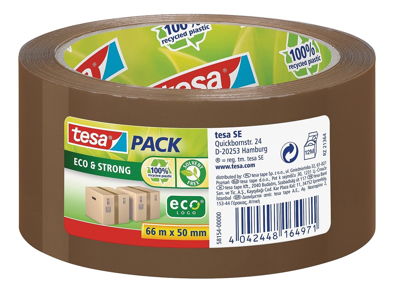 tesa Emballer Ruban de fermeture Eco & Strong vert imprimé 66m x 50mm 58156-00000-00 Emballage