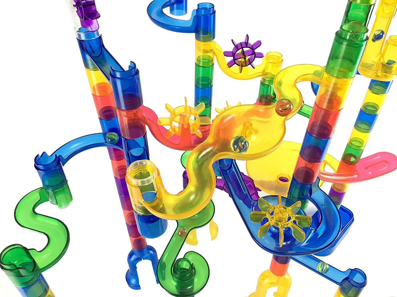 85 pi/èces translucides Marbulous 15 billes de verre Marble Genius Marbre ex/écutez Super Set