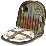 Bright Outdoors Picnic Set for 2 - Compact wallet to fit basket or bag. With board, opener, napkins