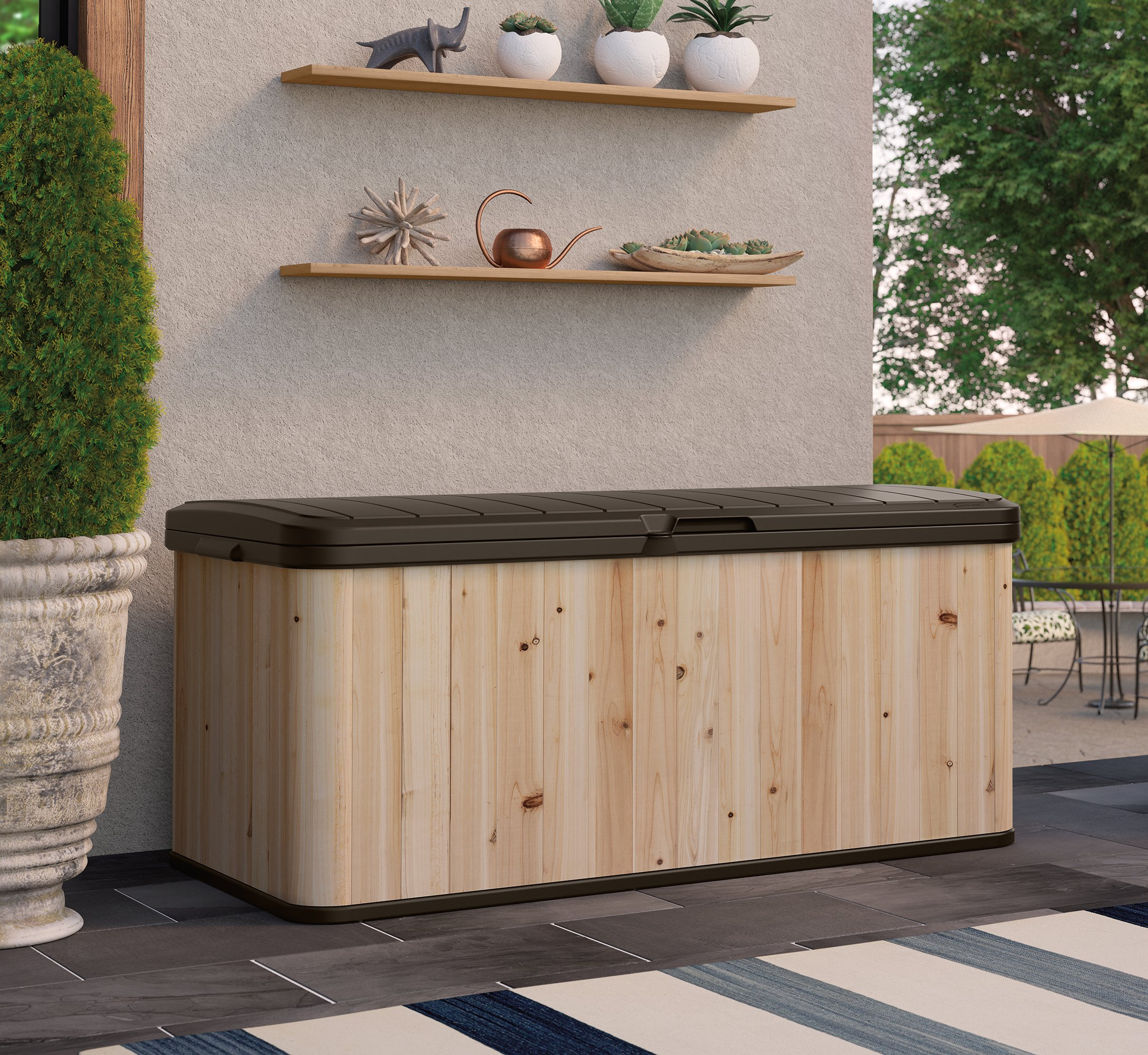 Suncast WRDB12000 Wood and Resin Deck Box by Suncast (Image #2)