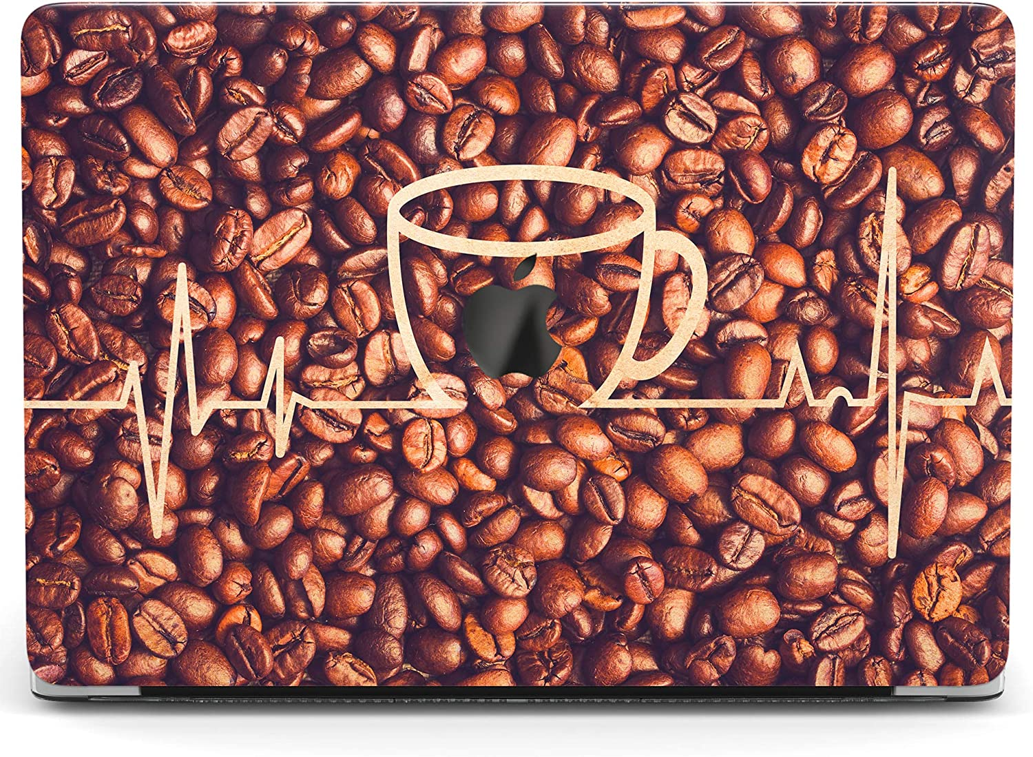 Wonder Wild Case Compatible with MacBook Air 13 inch Pro 15 2019 2018 Retina 12 11 Apple Hard Mac Protective Cover 2017 16 2020 Plastic Laptop Print Coffee Grains Beans Heartbeat Wave Nurse Pattern