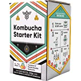 Craft A Brew Starter Complete Kombucha Making Kit, Including 1 gallon glass jar, SCOBY, Tea, Sugar and Guide to Brewing, Mult
