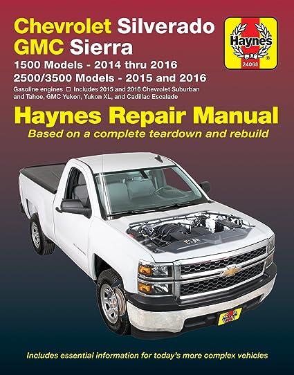 amazon com haynes 24068 chev gmc pickups 14up automotive rh amazon com 1985 GMC Sierra Classic 1500 1984 GMC K1500 Sierra Classic Blue