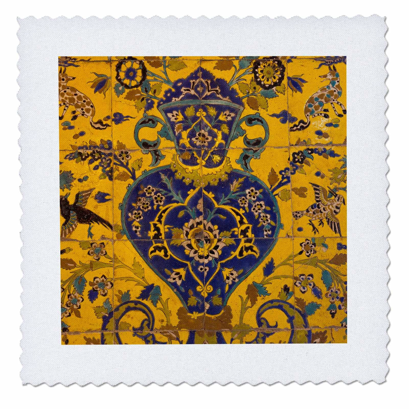 3dRose Danita Delimont - Artwork - Central Iran, Esfahan, Bethlehem Armenian Church, Interior - 18x18 inch quilt square (qs_276842_7)