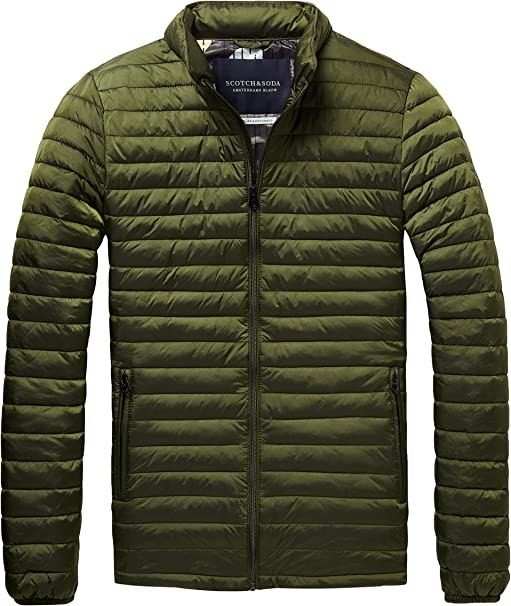 TALLA M. Scotch & Soda Simple Quilted Fake Down Jacket Chaqueta para Hombre
