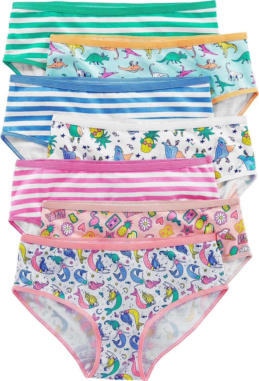 Carters Girls 7-Pack Print Days Underwear