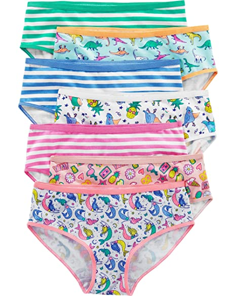 f3c4ebf70506 Carter's Toddler Girl's 7-Pack Stretch Cotton Panties (2-3T, Pineapple(