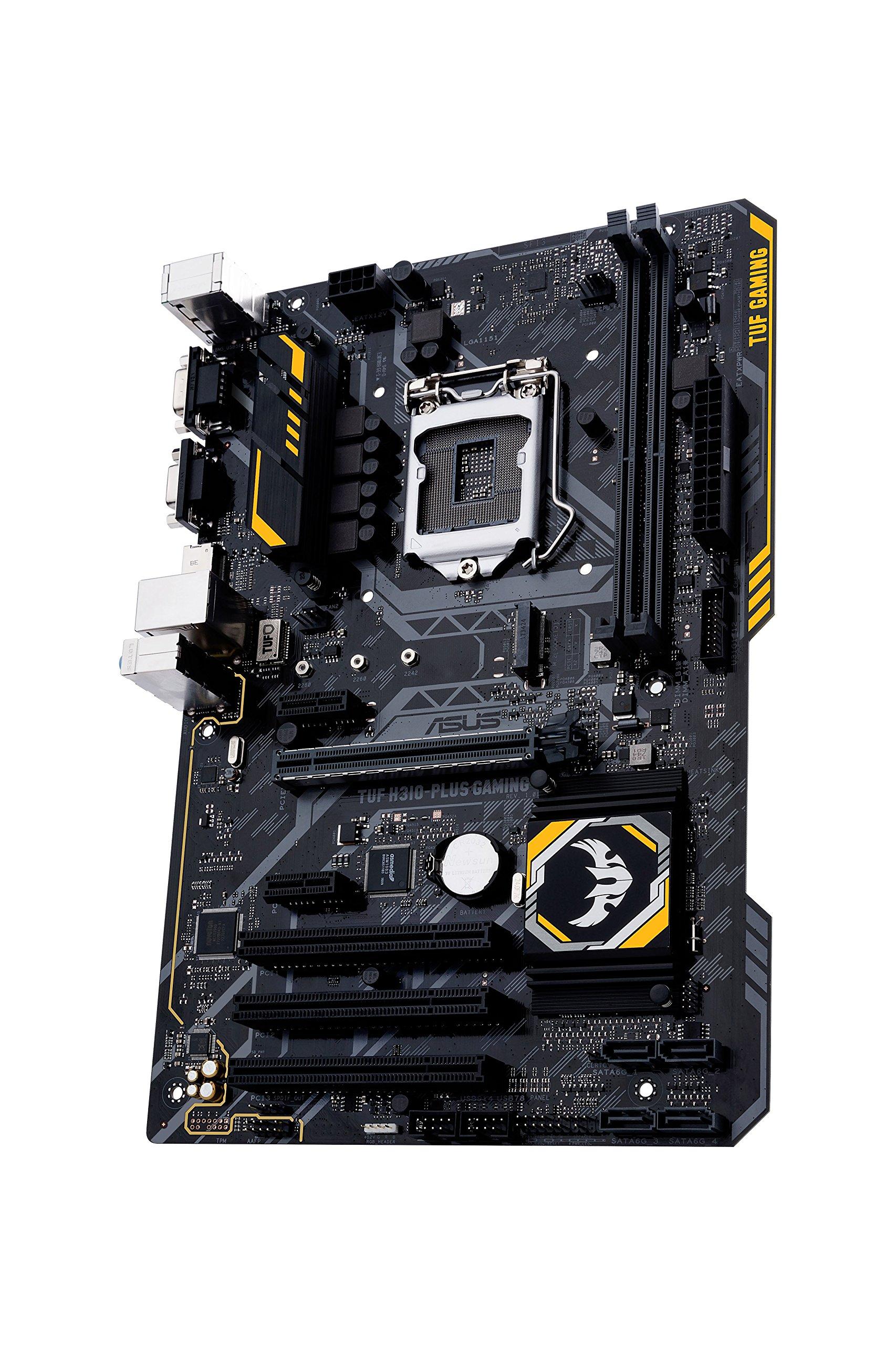 ASUS TUF H310-Plus Gaming LGA1151 (Intel 8th Gen) DDR4 HDMI VGA M.2 B360 ATX Motherboard