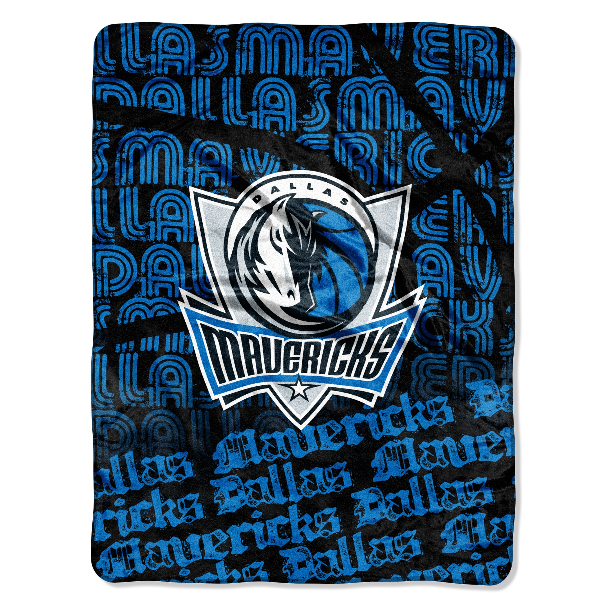 The Northwest Company Officially Licensed NBA Dallas Mavericks Redux Micro Raschel Throw Blanket, 46'' x 60''