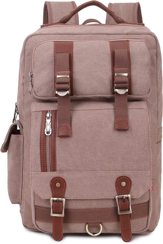 La Packmore Canvas Hiking Travel Daypacks School 16 inch Laptop Backpack Rucksack 30L
