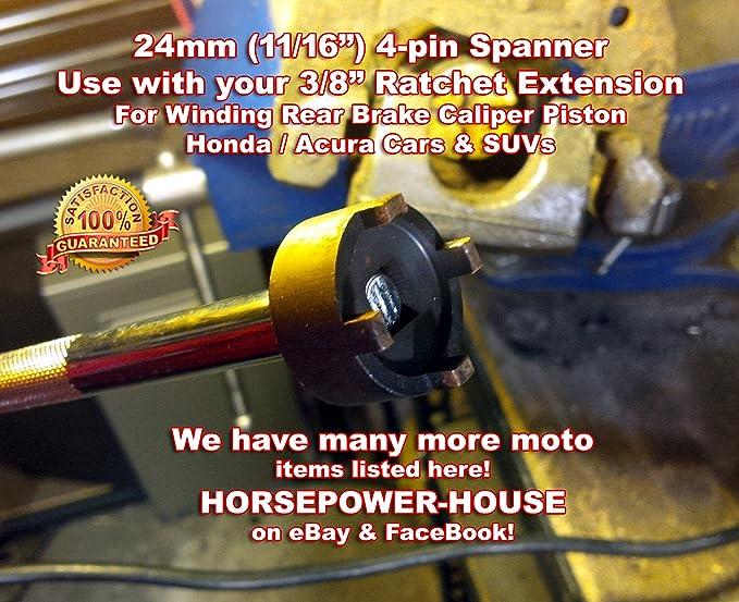 24mm Spanner Socket Tool for Rear Brake Caliper Piston Winder Rewinder Tool  for HONDA ACURA Car Auto Civic S2000 CRV CRZ CRX Del Sol Accord CrossTour