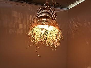 Etnico arredo lustre marocain lampe applique lanterne osier
