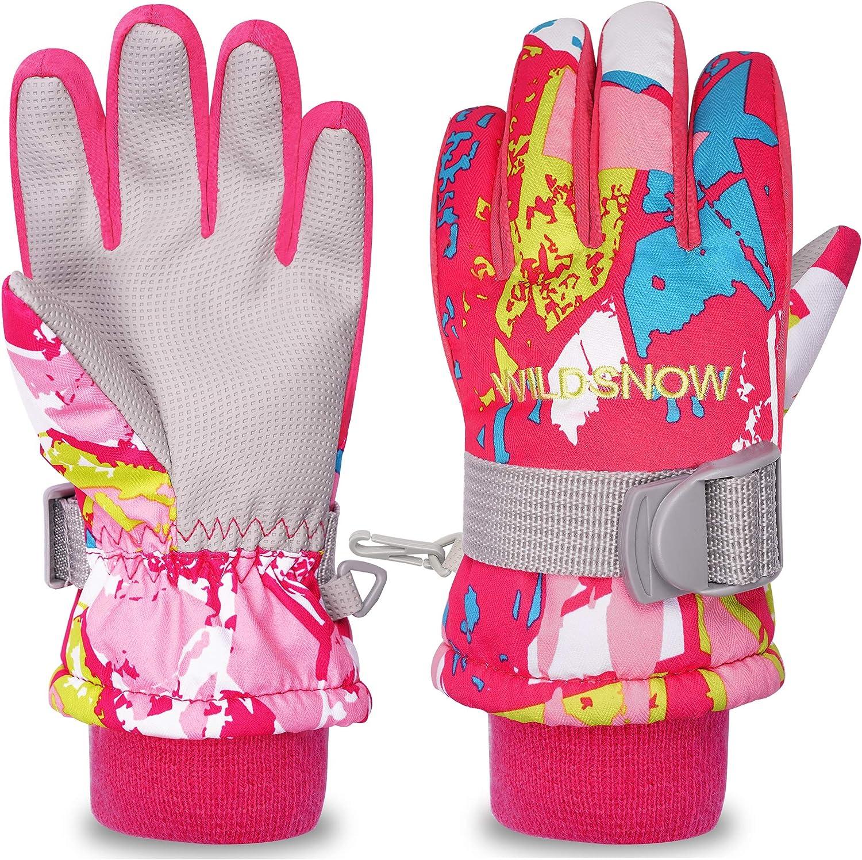 arteesol Kinder Skihandschuhe Wasserdicht und Winddicht Winterhandschuhe warme Sports Handschuhe f/ür 4-14 Jahre Junge und M/ädchen f/ür Skifahren Motorrad Snowboard