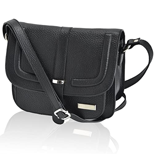 70fc773688e4 Leather Crossbody Purse Bag For Women - Cross Body Over The Shoulder Purses  Saddle Handbag Womens Travel Side Bags by Estalon  Amazon.co.uk  Shoes    Bags