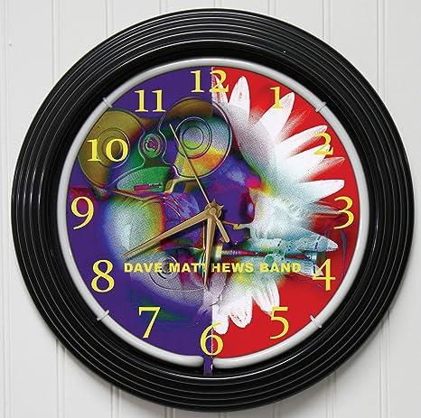 Dave Matthews Band 15 Purple Neon Rock N Roll Wall Clockk1 At