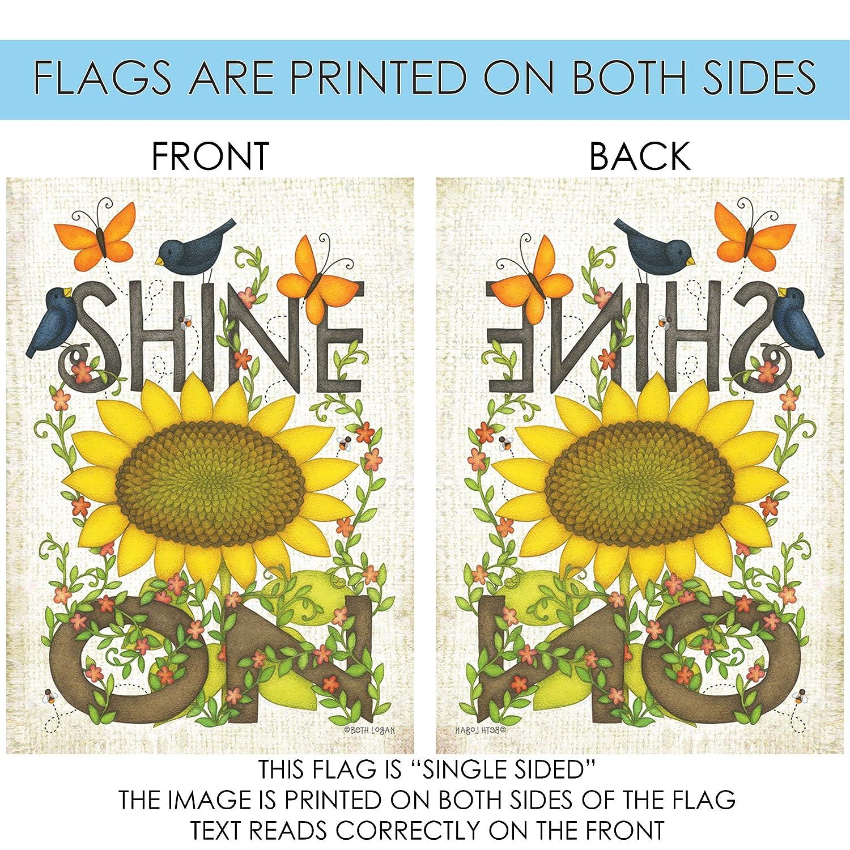 Toland Home Garden 109767 Sunflower Shine on House Flag