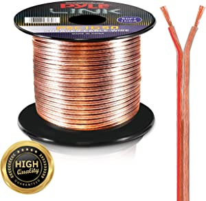 Pyle PSC1650 50ft 16 Gauge Speaker Wire - Copper Cable In Spool for connecting Audio Stereo to Amplifier, Surround Sound System, TV Home Theater and Car Stereo, 50 Feet
