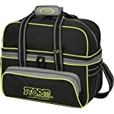 Storm 2 Ball Deluxe Bolso, Negro/Gris/Lima