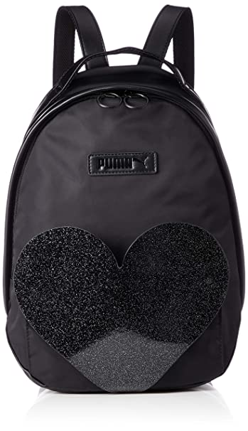 59ab71c166 Puma Prime Black PU Archive Valentine Women's Backpack: Amazon.in ...