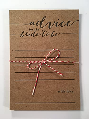 advice for the bride to be letterpress note card set bridal shower game keepsake