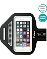 Armband Vinious Premium Water and Sweat Resistant Sport Armband for iPhone 6, 6S, 5, 5S, 5C, iPod Touch, Samsung Galaxy S3, S4, S5(Grey)