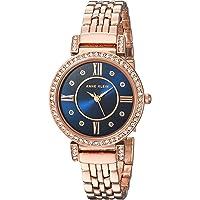 Anne Klein 女士施华洛世奇水晶点缀玫瑰金手镯手表