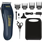 Wahl Lithium Ion Deluxe Pro Series Rechargeable Pet Clipper Grooming Kit with Low Noise & Heavy Duty Motor for Cordless Elect