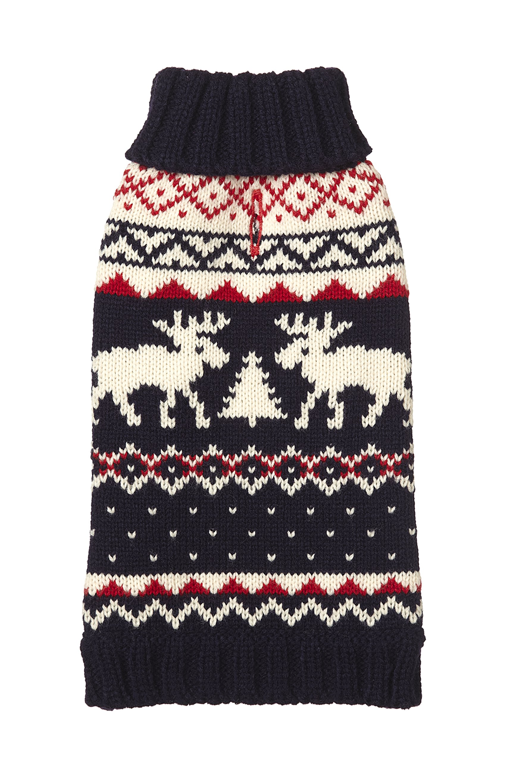 fabdog Navy Fairisle Dog Sweater (24'') by fabdog