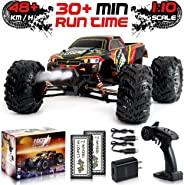 1:10 Scale Large RC Cars 48+ kmh Speed - Boys Remote Control Car 4x4 Off Road Monster Truck Electric - All Terrain Waterproof