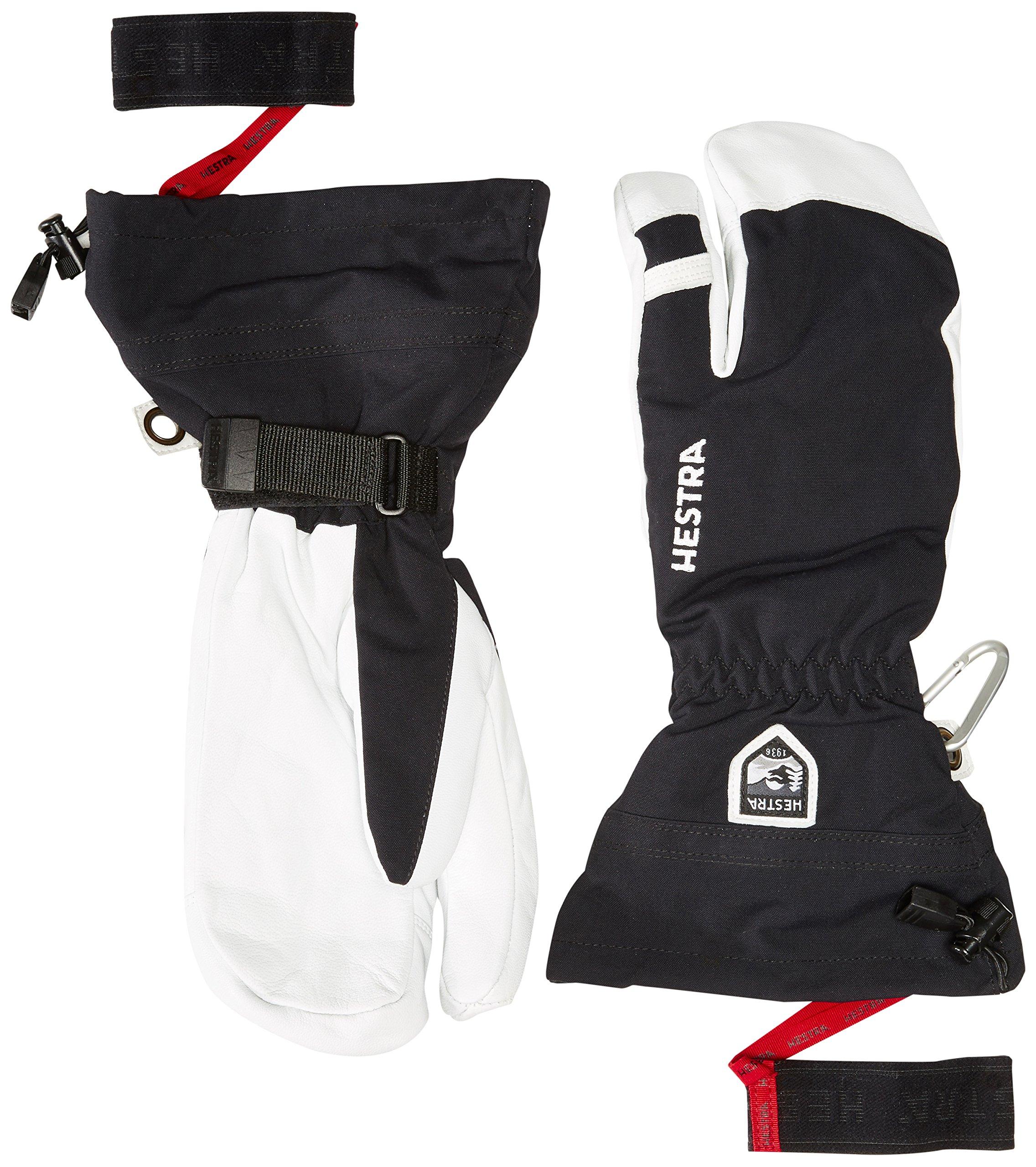 Hestra Heli Ski 3-Finger Glove, Black, 10 by Hestra (Image #1)
