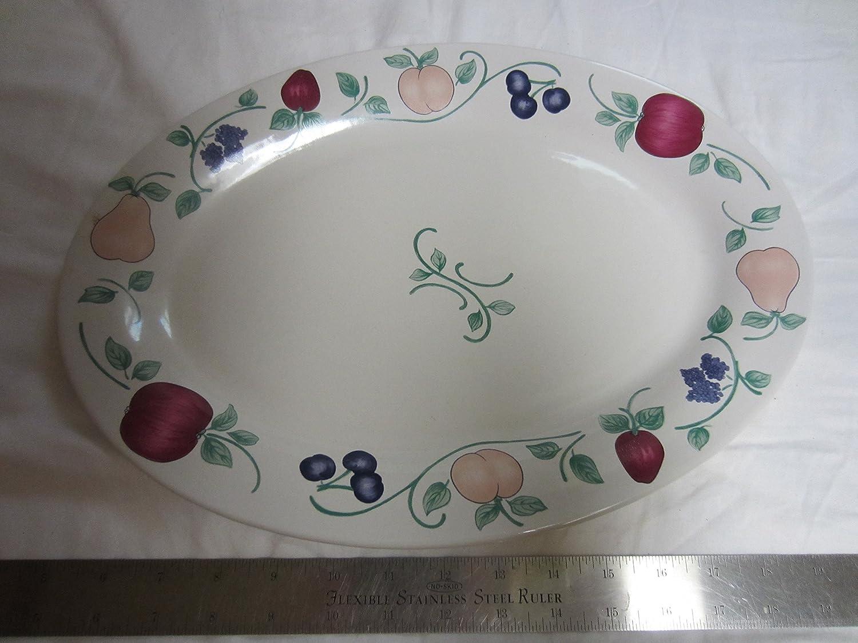 Princess House Orchard Medley Oval Platter