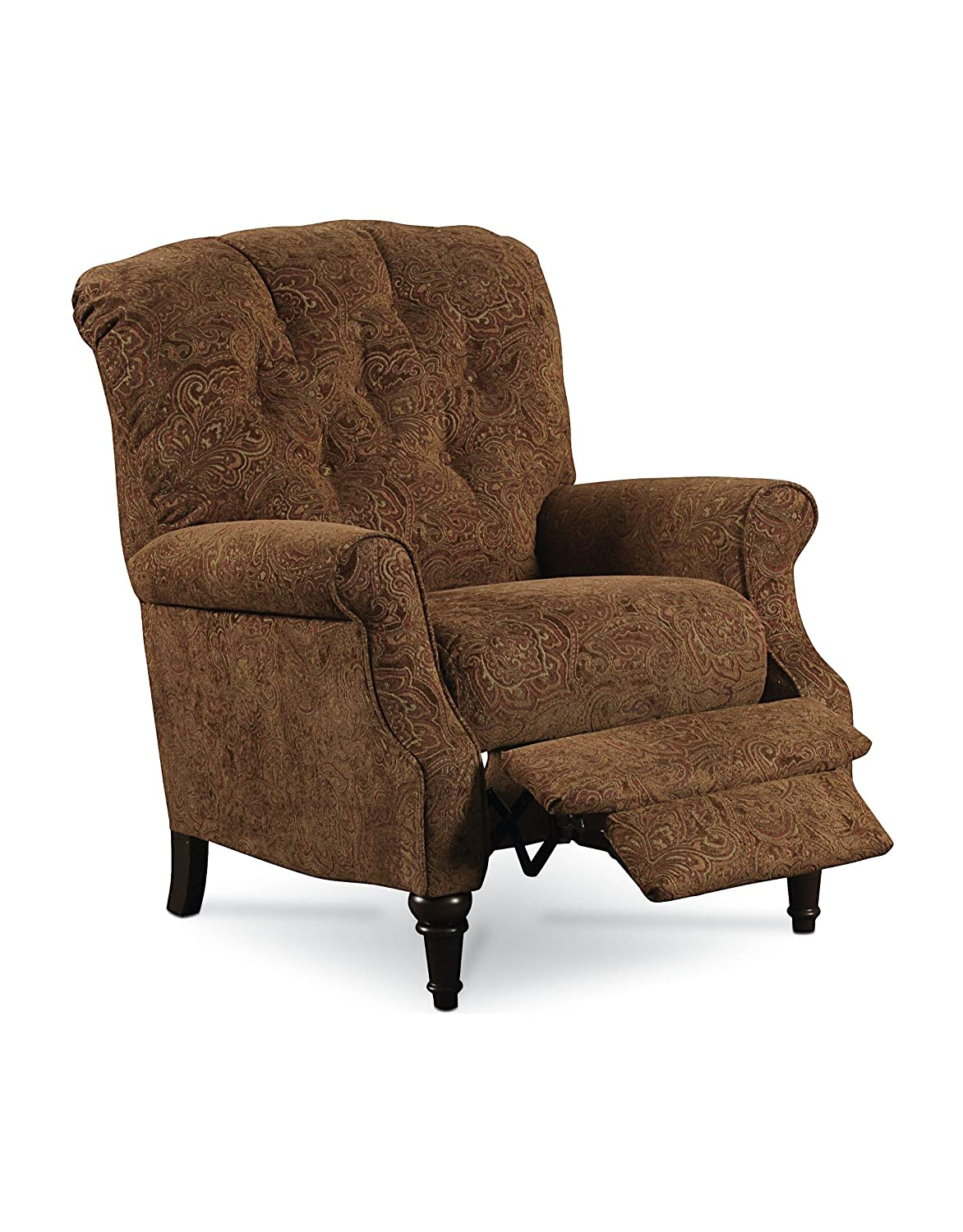 Amazon.com: Lane Furniture Belle 2550 1573 21 Hi Leg Recliner With Turned  Legs In A Warm Walnut Finish Button Tufted Detailing And Hide A Chaise:  Kitchen U0026 ...