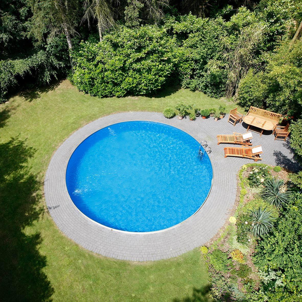 Conjunto de piscina, tamaño y profundidad a elegir, pared de acero ...