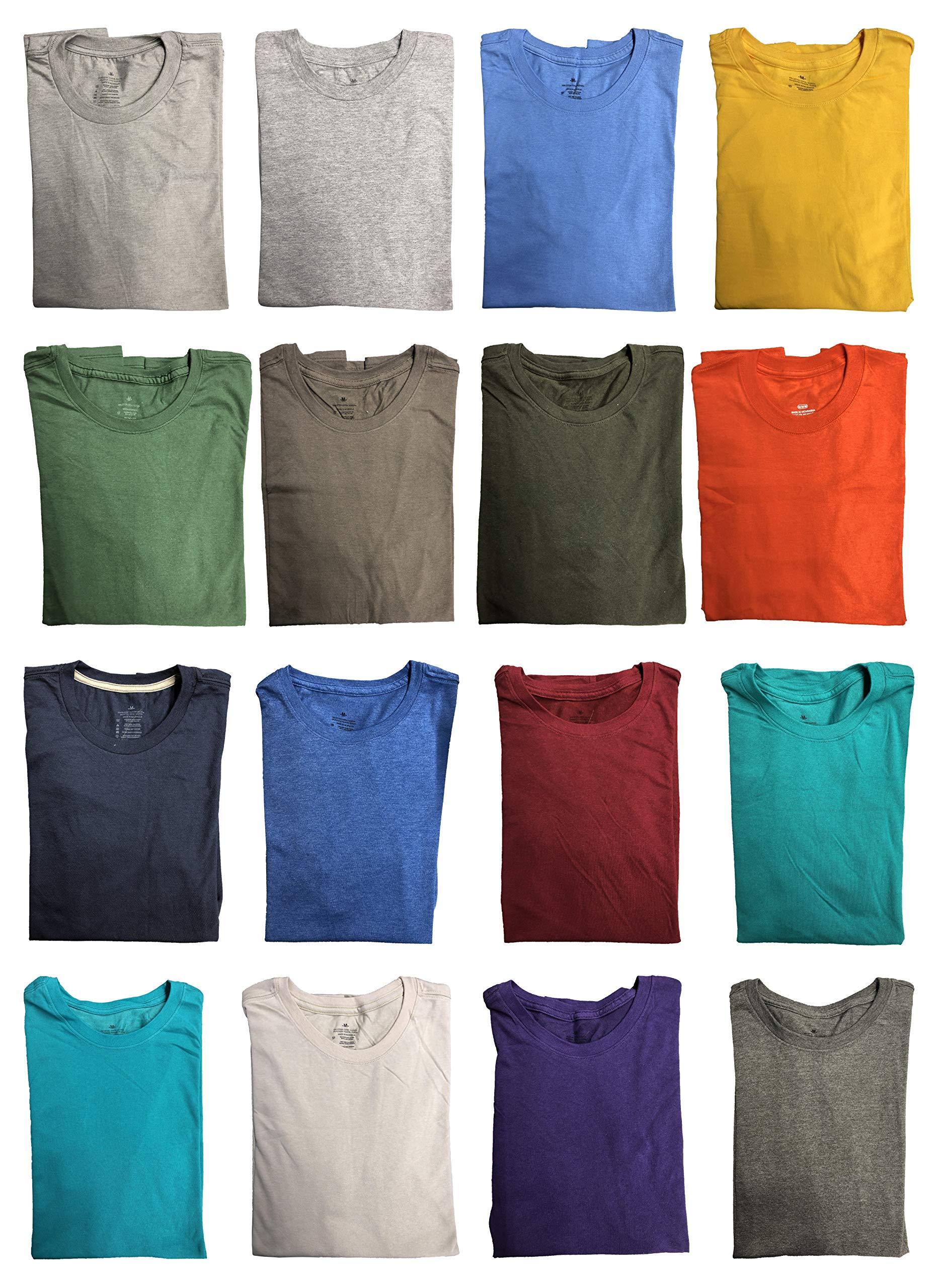 SOCKS'NBULK Mens Cotton Crew Neck Short Sleeve T-Shirts Mix Colors Bulk Pack Value Deal (180 Pack Mix, Large) by SOCKS'NBULK (Image #1)