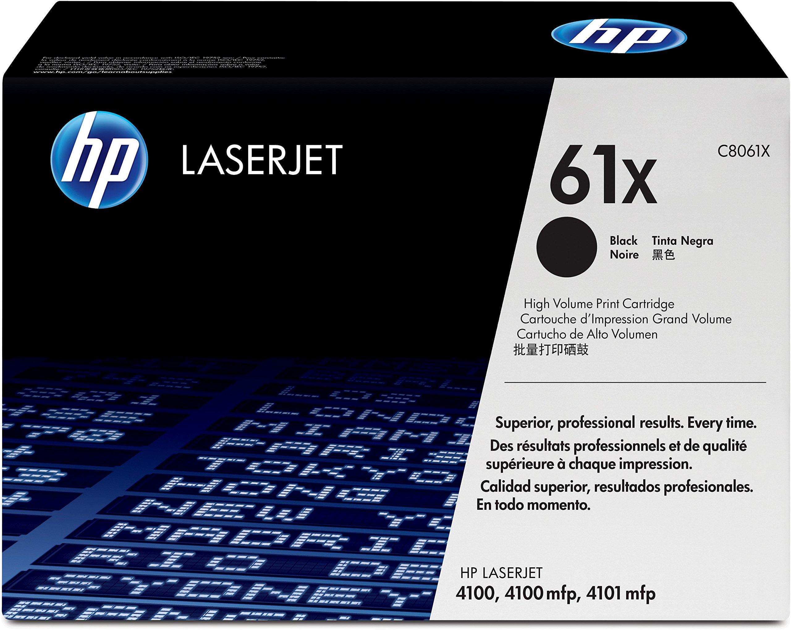 HP 61X (C8061X) Black High Yield Original Toner Cartridge