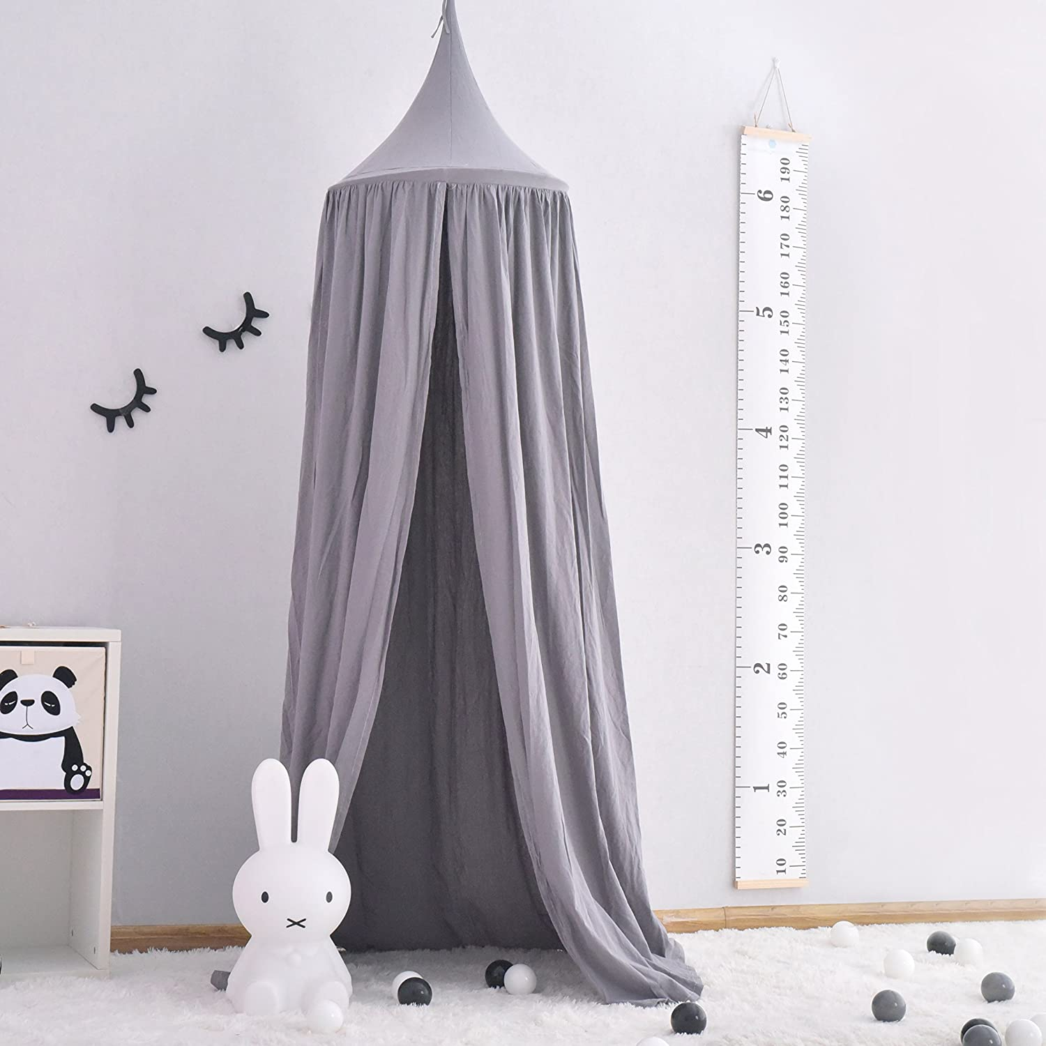 Crib Netting Strong-Willed Baby Bed Block Mosquitoes Tent For Baby Kids Round Dome Bed Canopy Mosquito Netting Curtain Cover Home Baby Mosquit Netting Baby Bedding