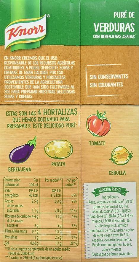 Knorr Las Rústicas Puré de Verduras con Berenjenas Asadas ...