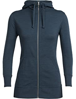 Icebreaker Merino Women s Dia Long Sleeve Zip Hooded Athletic Sweater 5f720ea4f3