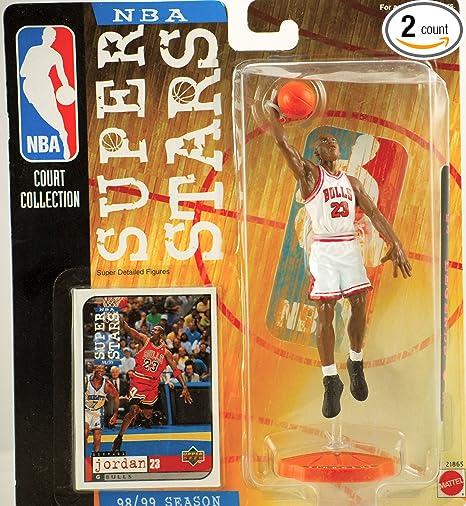 best sneakers da3e0 d14a8 1998-99 NBA Super Stars Michael Jordan Figure White Jersey