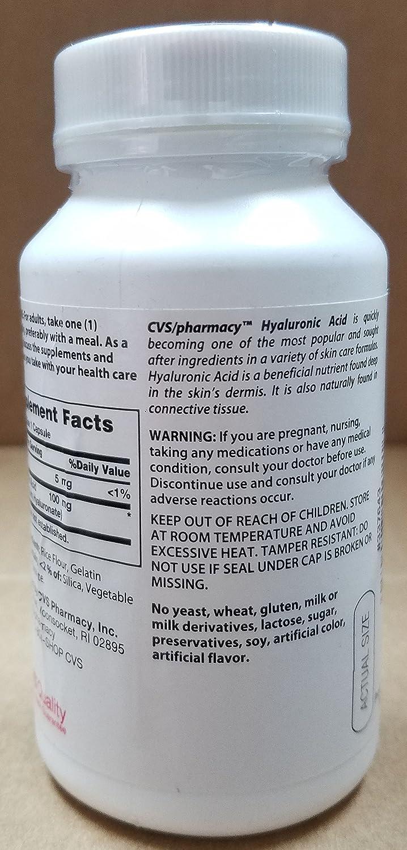 amazon com lot of 3 cvs pharmacy hyaluronic acid 100 mg a