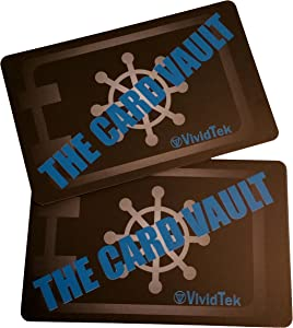 RFID Blocking Cards (2 pack) by THE CARD VAULT Protect Credit and Debit Cards With RFID Chip From Identity Theft, Skimmers and Hackers