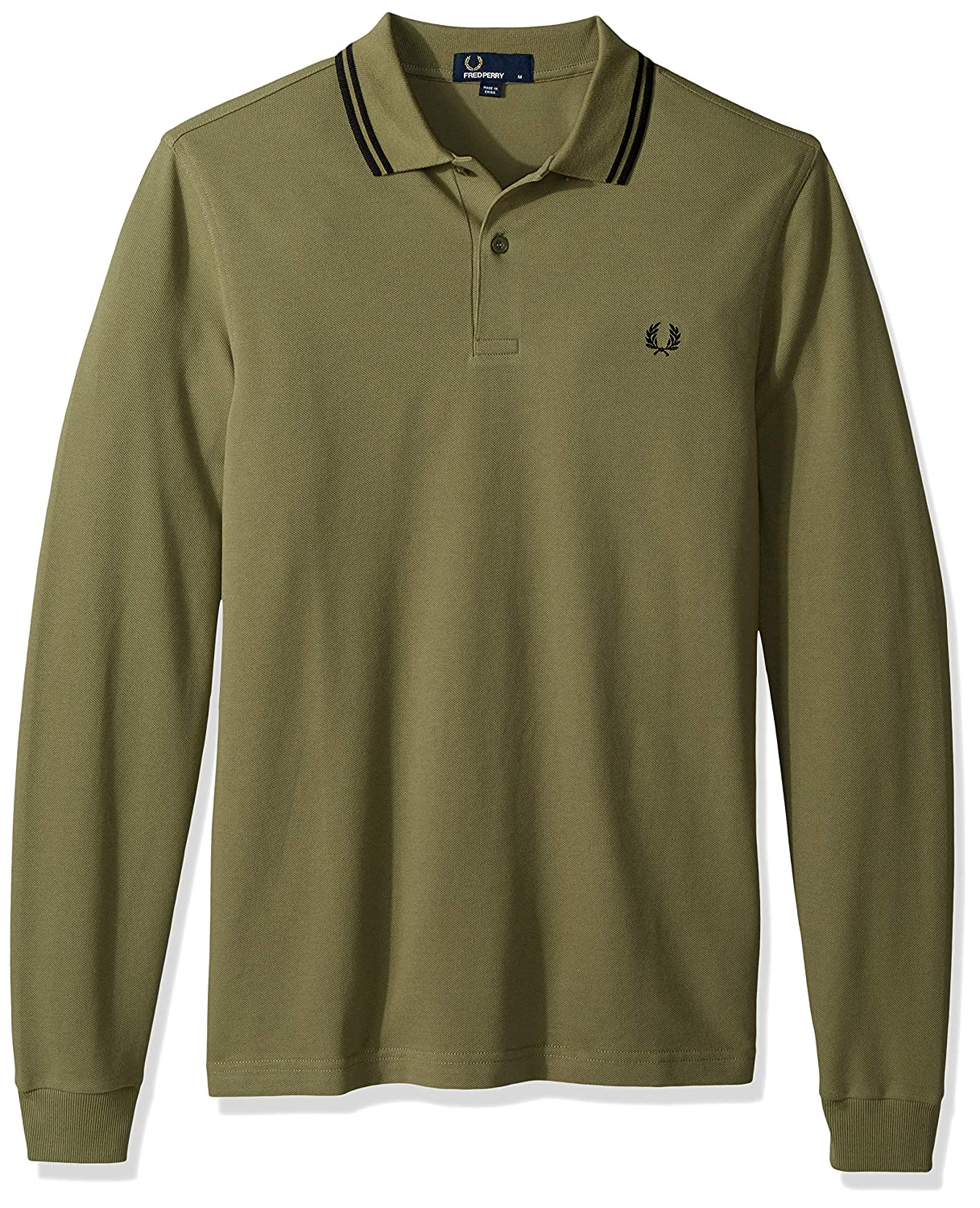 Vert S Frouge Perry FP Ls Twin Tipped Shirt Haut Thermique Homme