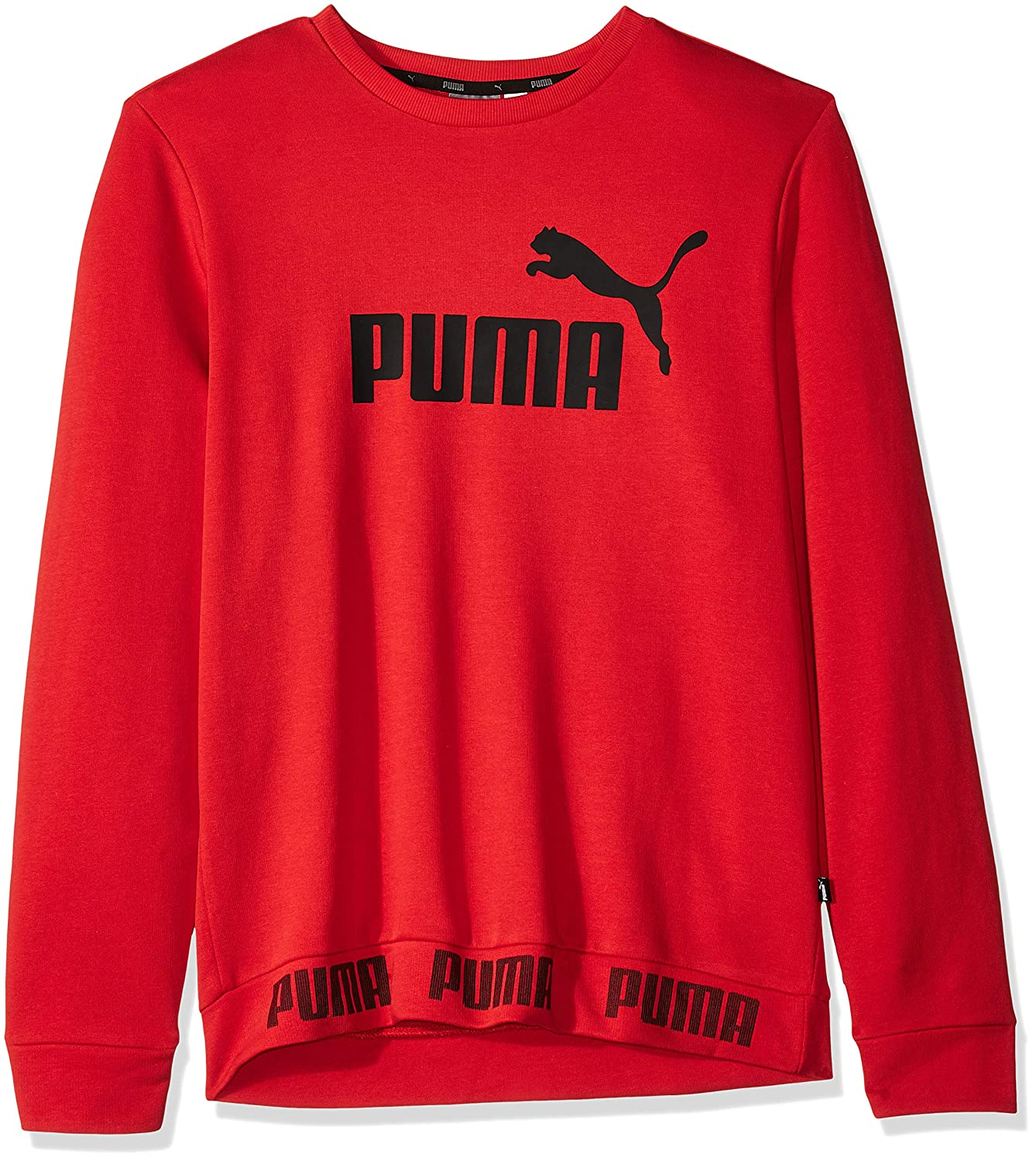 High Risk Red Medium PUMA Mens Amplified Crewneck Sweatshirt Sweatshirt