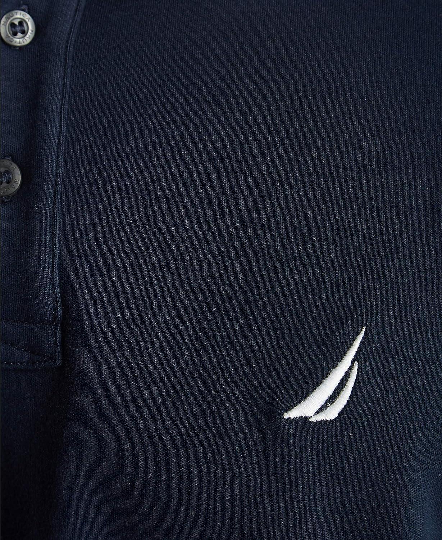 Nautica Mens Classic Fit Short Sleeve Dual Tipped Collar Polo Shirt